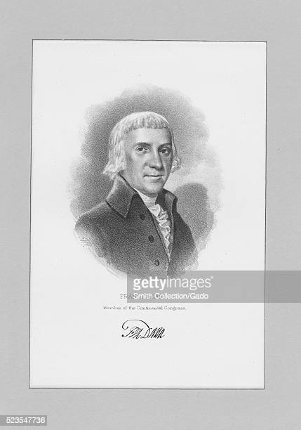 Engraved portrait of Francis Dana an American lawyer jurist and statesman from Massachusetts who served as a delegate to the Continental Congress in...
