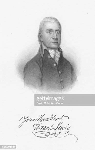 Engraved portrait of Francis Lewis merchant and a signer of both the Articles of Confederation and the United States Declaration of Independence 1868...