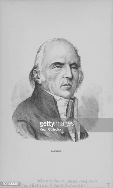 Engraved portrait of French biologist JeanBaptiste Lamarck circa 17701829