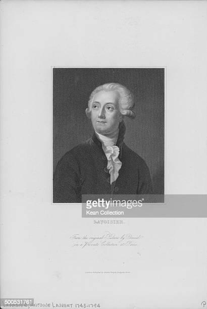 Engraved portrait of French chemist Antoine Laurent Lavoisier circa 17701794 Engraved by C E Wagstaff