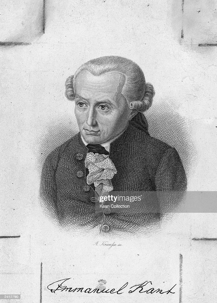 Engraved portrait of German philosopher Immanuel Kant