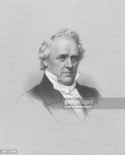 Engraved portrait of James Buchanan American politician and 15th President of the United States 1834 From the New York Public Library