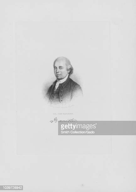 Engraved portrait of John Banister member of the Continental Congress and signer of the Articles of Confederation an American lawyer from Petersburg...