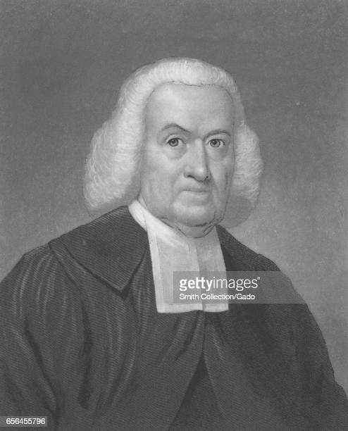 Engraved portrait of John Rodgers prominent Presbyterian preacher and the moderator of the First General Assembly of the Presbyterian Church in the...