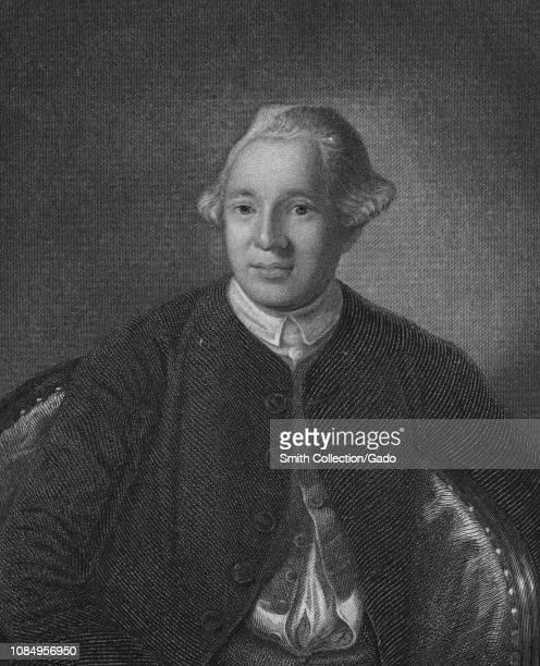 Engraved portrait of Joseph Warren, President of the revolutionary Massachusetts Provincial Congress, an American physician from Roxbury, Boston,...
