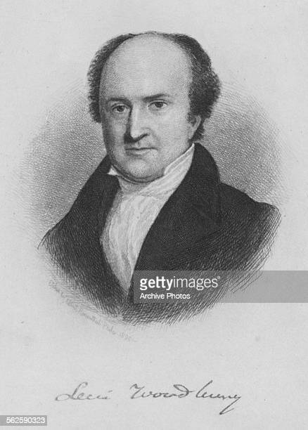 Engraved portrait of Levi Woodbury, Associate Justice of the Supreme Court of the United States, circa 1830.