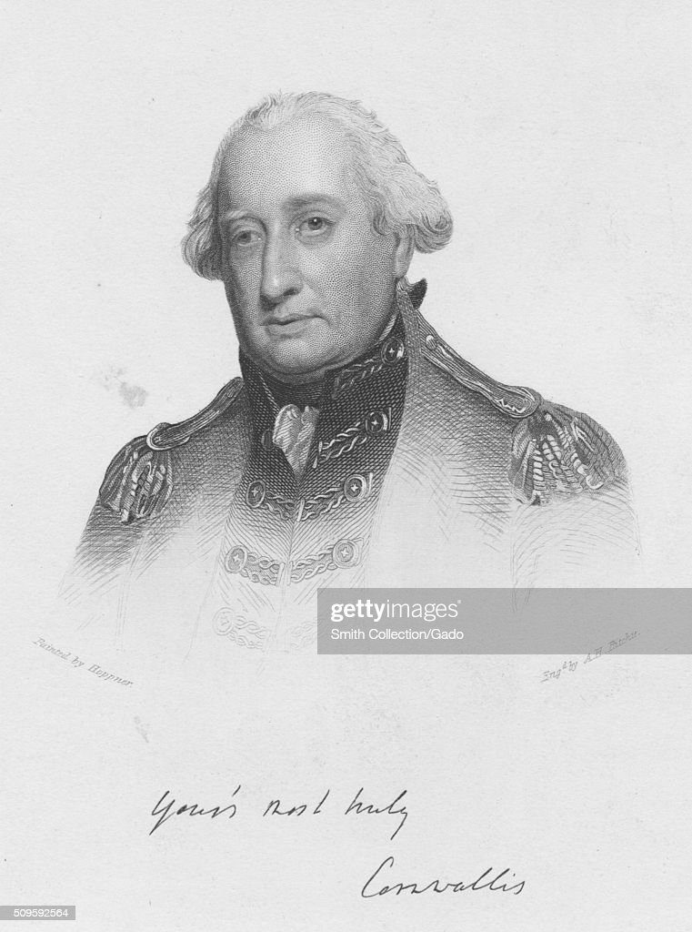 engraved portrait of lord charles cornwallis one of the leading