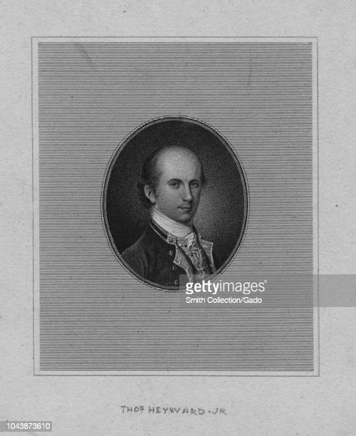 Engraved portrait of Thomas Heyward Jr signer of the United States Declaration of Independence and of the Articles of Confederation an American judge...