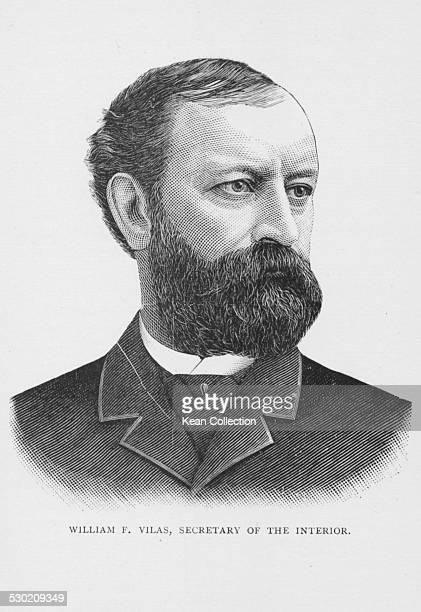 Engraved portrait of US Senator and Secretary of the Interior William Freeman Vilas circa 1889