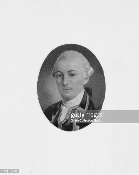 Engraved portrait of William Duer delegate to the Continental Congress and signer of the United States Articles of Confederation 1836 From the New...