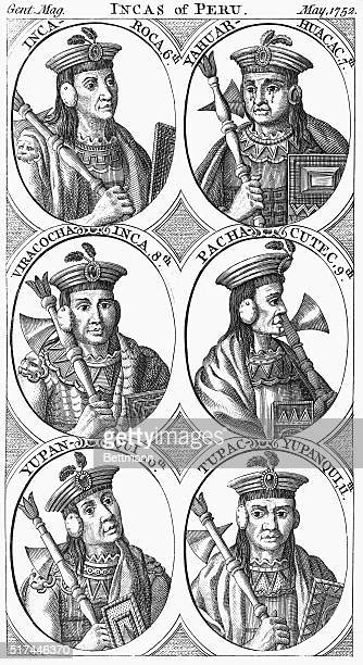 Engraved portraits of Inca notables from Gent Magazine May 1752 Included in the series of eight ovals are IncaRoca 6th YahuarHuacac 7th ViracochaInca...