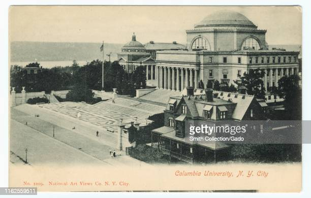 Engraved postcard of the Columbia University in New York City, published by National Art Views Co, 1903. From the New York Public Library.