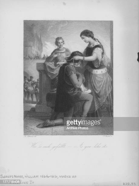Engraved scene from the works of William Shakespeare As You Like It circa 15991600