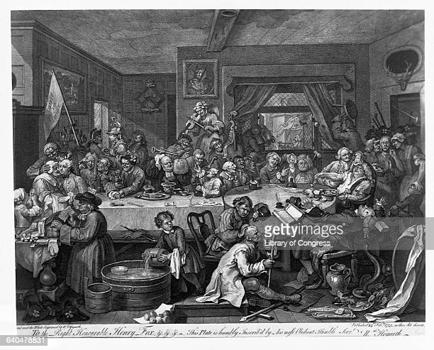 Engraving After An Election Entertainment by William Hogarth