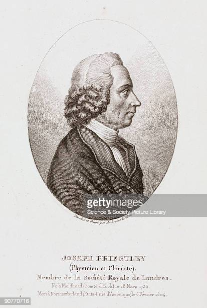 Engraving by Ambroise Tardieu after his original drawing Joseph Priestley discovered various gaseous elements and compounds and in an experiment in...