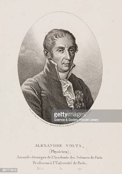 Engraving by Ambroise Tardieu c 1820 after an original work by Nicolo Bettoni c 1800 Count Alessandro Giuseppe Anastasio Volta was the inventor of...