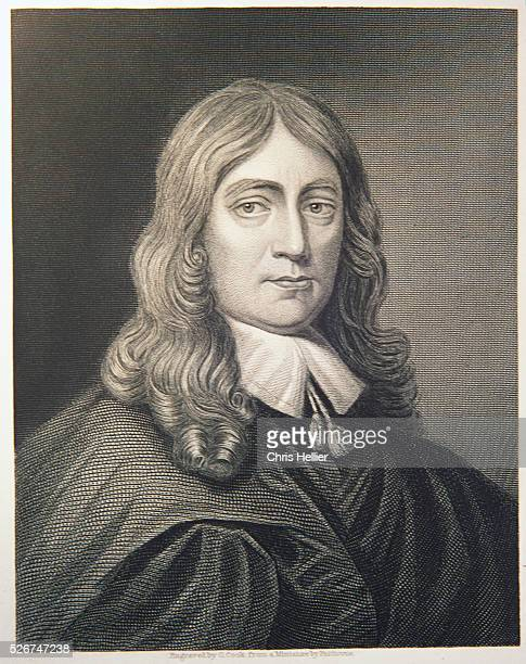 Engraving by C Cook After a Miniature of John Milton by Faithorne