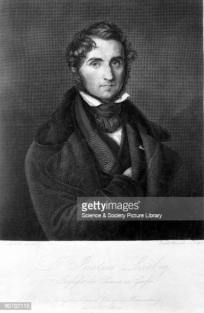 Engraving by Ernst Rauch after a painting by Trautschold of Baron Justus Von Liebig German chemist and pioneer in the training of chemists and in...