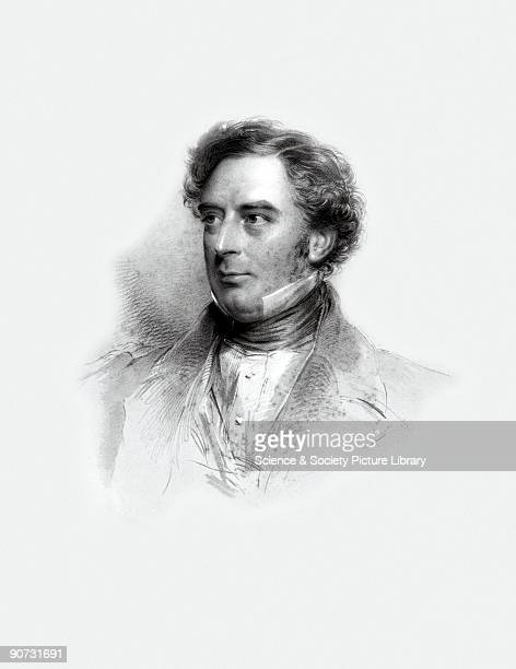 Engraving by Holl after Richmond of Robert Stephenson The son of George Stephenson whom he assisted with the survey of the Stockton Darlington...