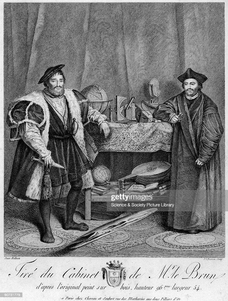 �The Ambassadors�, 1533. : News Photo