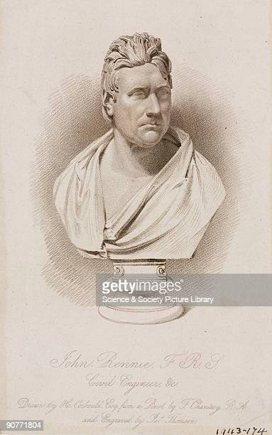 Engraving by James Thomson, from a drawing by Henry Corbould, after an original bust by Sir Francis Legatt Chantrey. John Rennie was a civil engineer...