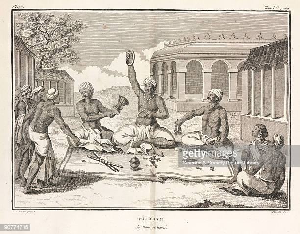 Engraving by Poisson after a painting by Pierre Sonnerat showing a swami or religious teacher Illustration from Sonnerat�s �Voyage aux Indes...