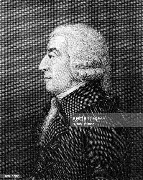 Engraving by Robert Graves of Adam Smith