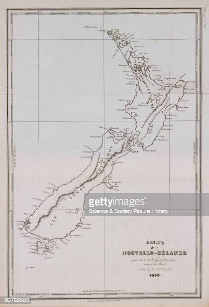 Engraving by Tardieu Abel Tasman was the first European to visit New Zealand in 1642 Illustration from �Voyage pittoresque autour du monde� by Jules...