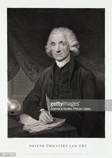Engraving by Thomas Holloway published in 1795 after an original painting by William Artaud Joseph Priestley discovered various gaseous elements and...