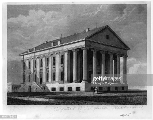 Engraving Capitol Richmond Virginia
