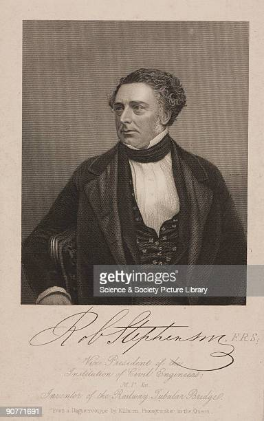 Engraving dated 1 February 1851 from a daguerrotype by William Edward Kilburn Robert Stephenson was an engineer and the son of George Stephenson whom...