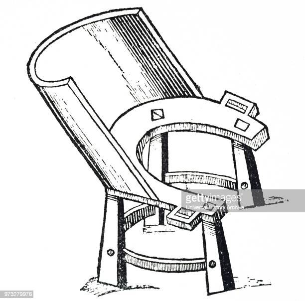Engraving depicting a birthing chair women sat in such a stool during childbirth and there is reference to such a device in the Old Testament This...