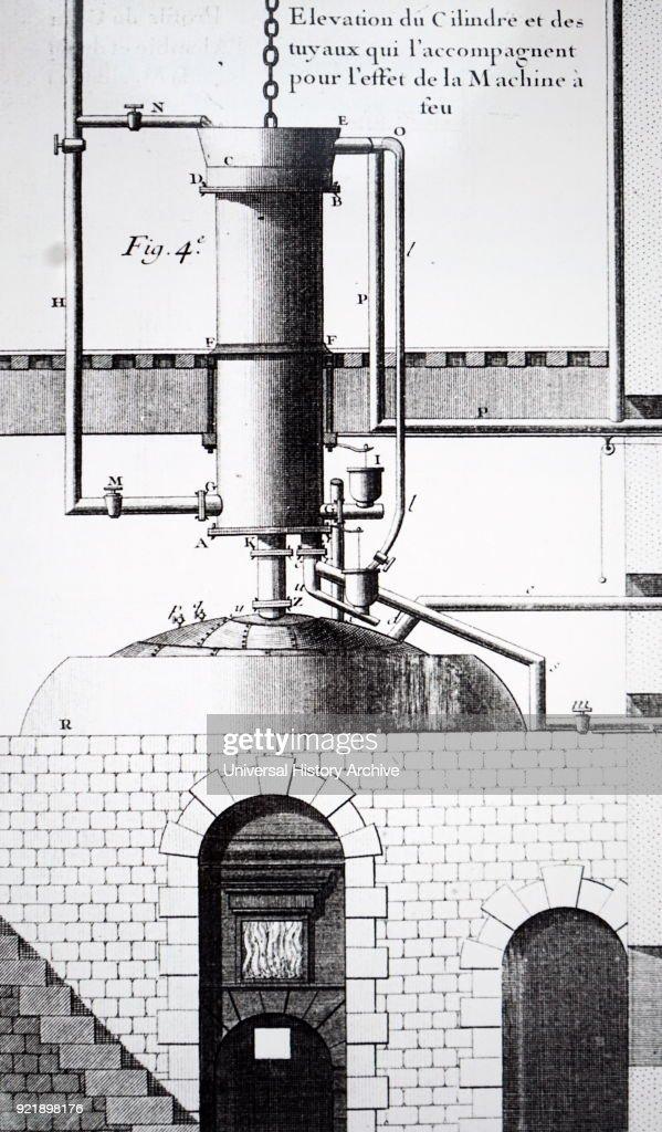 A Newcomen steam engine. : News Photo