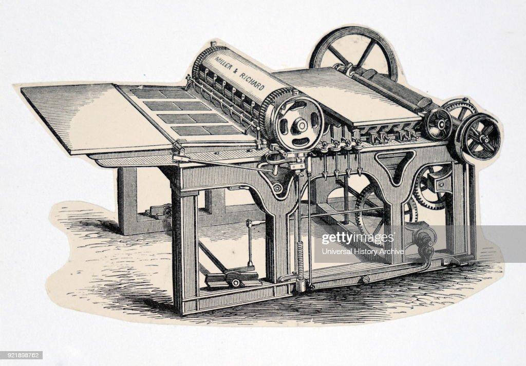 A single cylinder perfecting machine. : News Photo