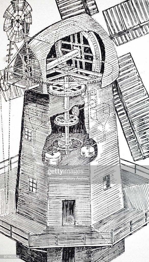A smock mill. : News Photo