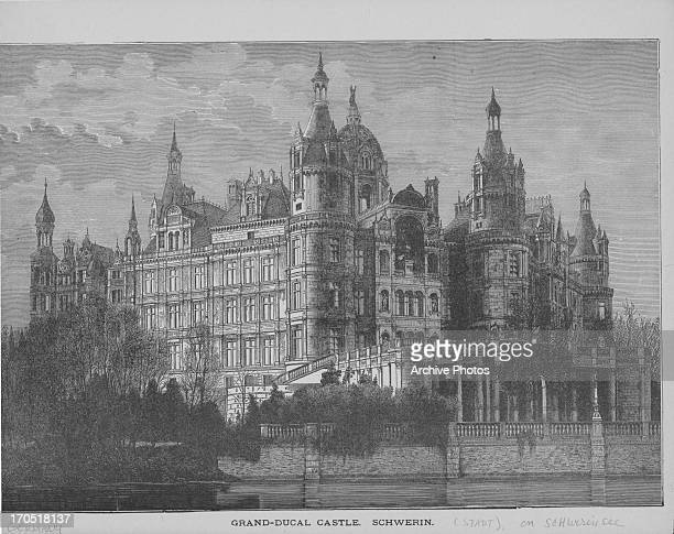 Engraving depicting a view of Grand Ducal Palace, Luxemburg.