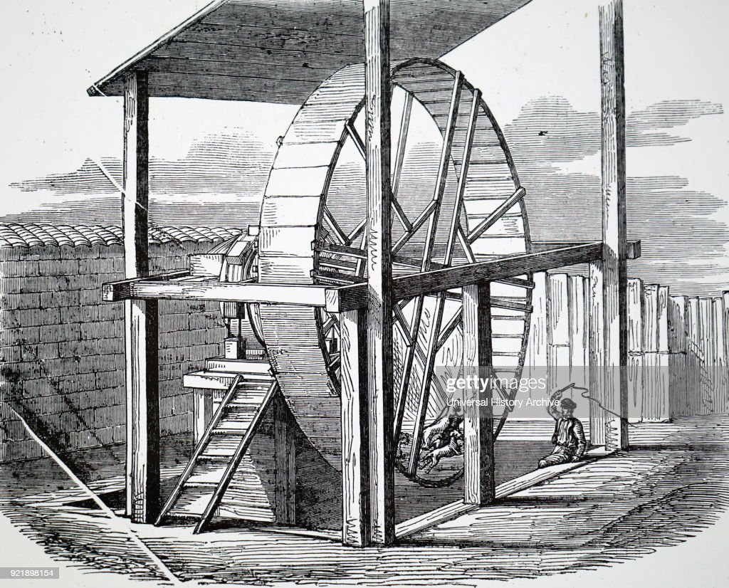 A wheel used for raising water. : News Photo