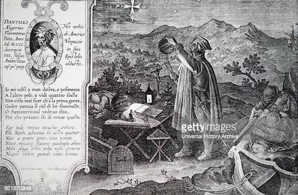 Engraving depicting Amerigo Vespucci an Italian explorer financier navigator and cartographer Dated 16th century