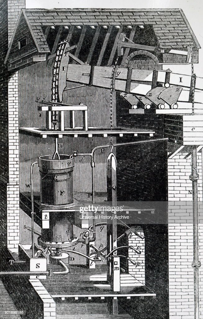 An adaptation of Newcomen's atmospheric steam engine. : News Photo