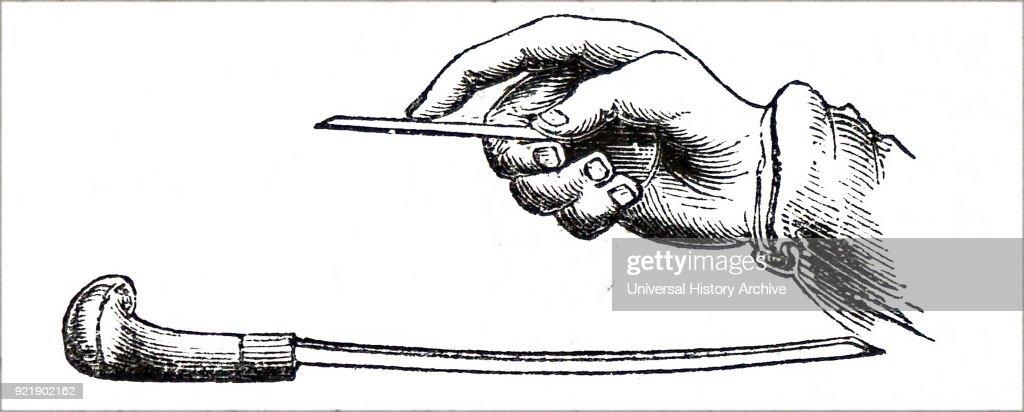 An engraver working. : Nachrichtenfoto