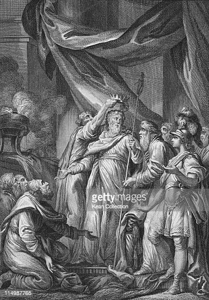 Engraving depicting Aristodemus leader of the Messenia in the first war against Sparta circa 724 BC