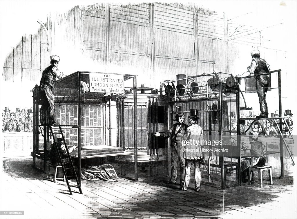 Augustus Applegath's rotary press. : News Photo
