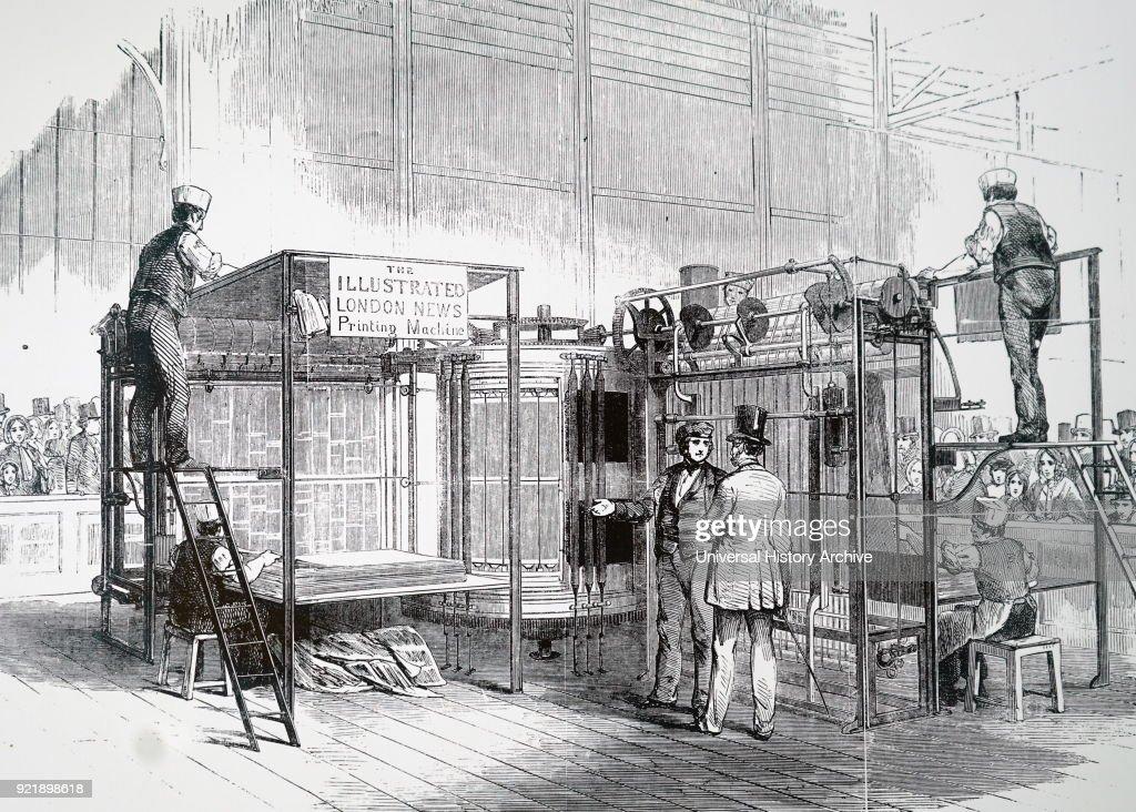 Engraving Depicting Augustus Applegaths Vertical Cylinder Printing Machine Applegath 1788 1871