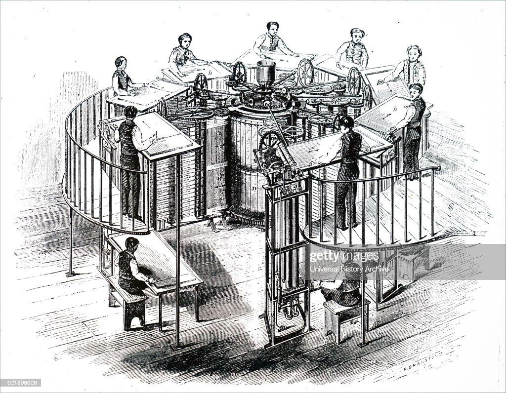 Augustus Applegath's vertical cylinder printing machine. : News Photo
