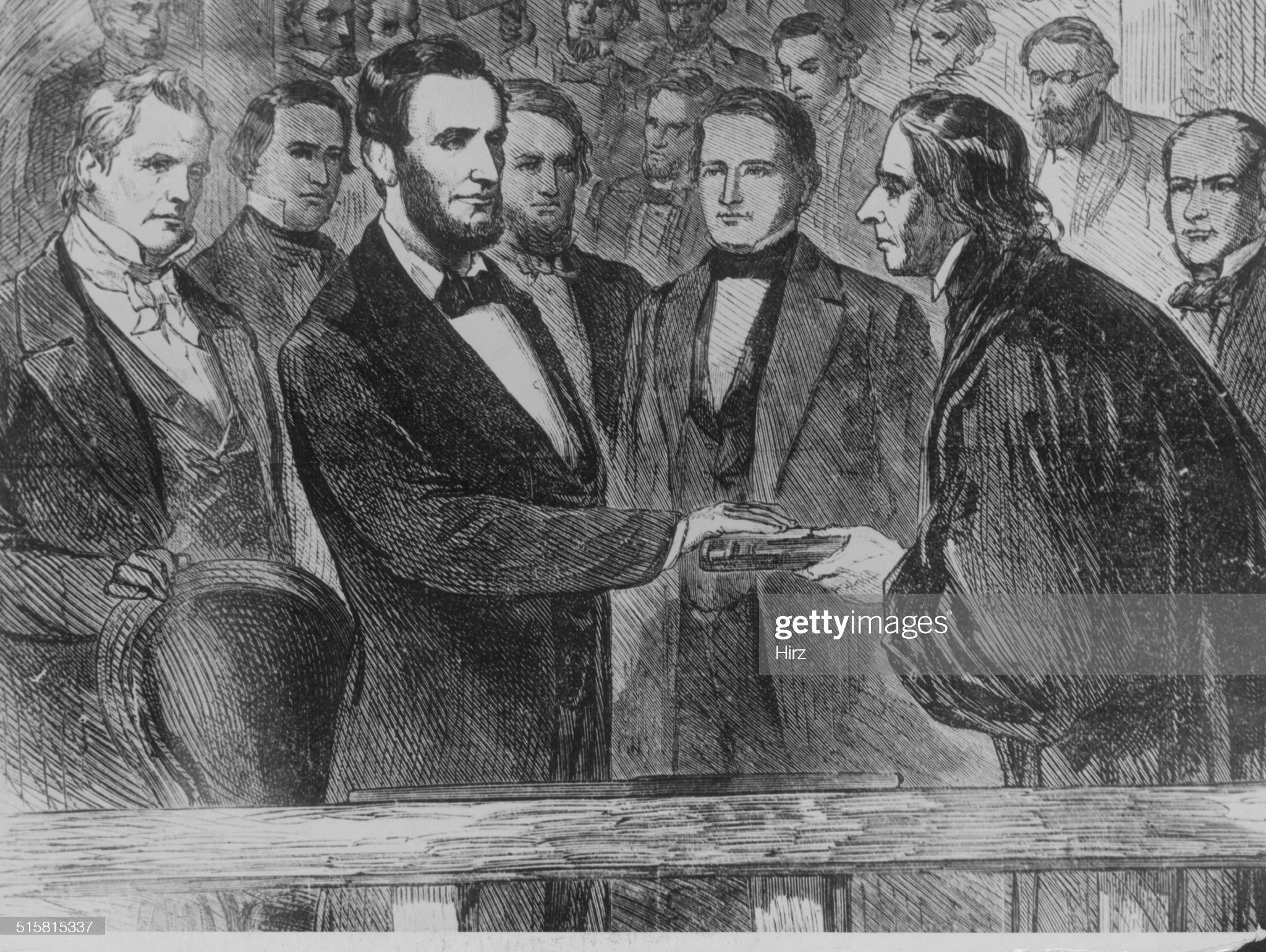 Inauguration Of Abraham Lincoln : News Photo