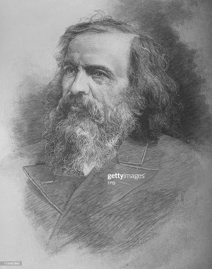 Dmitri ivanovich mendeleev photos pictures of dmitri ivanovich engraving depicting dmitri mendeleev 1834 1907 russian chemist and inventor russia urtaz Image collections
