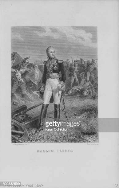 Engraving depicting Duc de Montebello Marshal Jean Lanneson the battlefield circa 17901809 Engraved by Outhwaite from the original by Philippoteaux