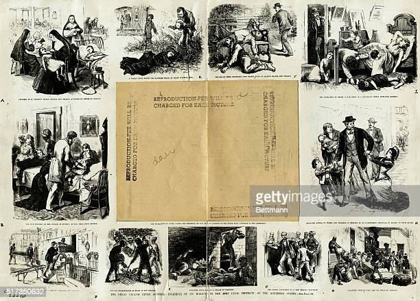 Engraving depicting fugitives found dead in a celler of Vicksburg From a series of images entitled 'THE GREAT YELLOW FEVER SCOURGE INCIDENTS OF ITS...