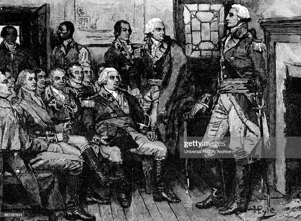 George Washington meeting with his generals. : News Photo