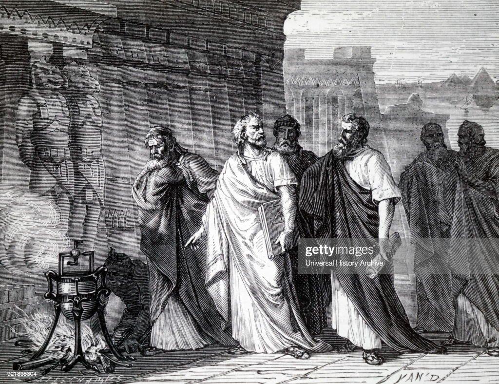 Hero of Alexandria demonstrating his aeolipile. : News Photo